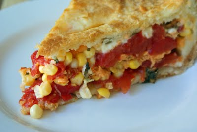 Corn and Tomato Pie | CJ Inspirations Cooking/Gardening