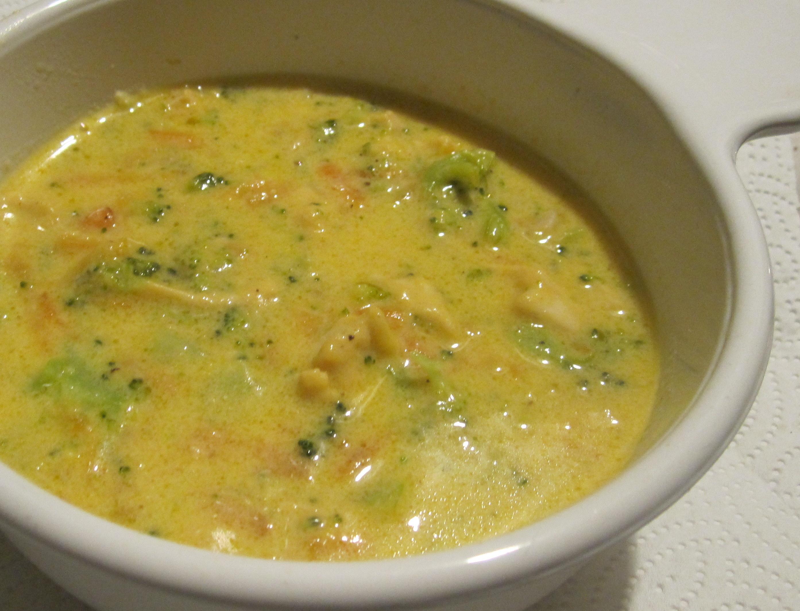 broccoli cheddar chicken soup 2014