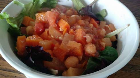 moroccan sweet potato, beans stew
