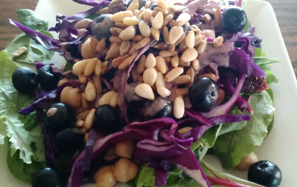 re cabbage blueberry dressing
